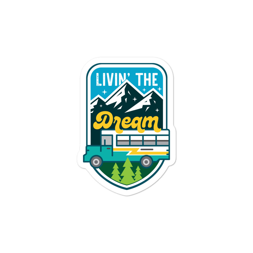 Livin' The Dream Skoolie Sticker