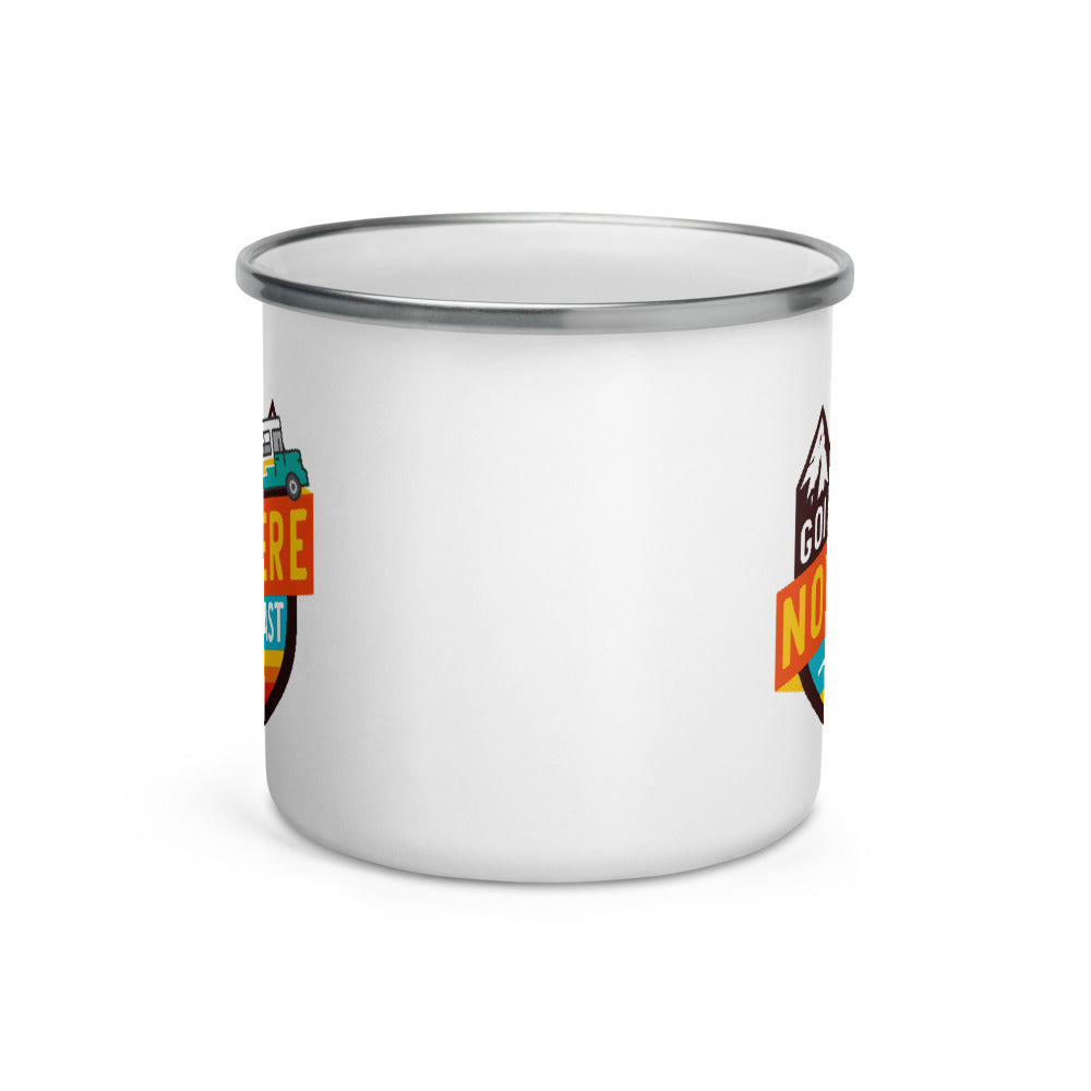 Load image into Gallery viewer, Going Nowhere Fast Enamel Mug
