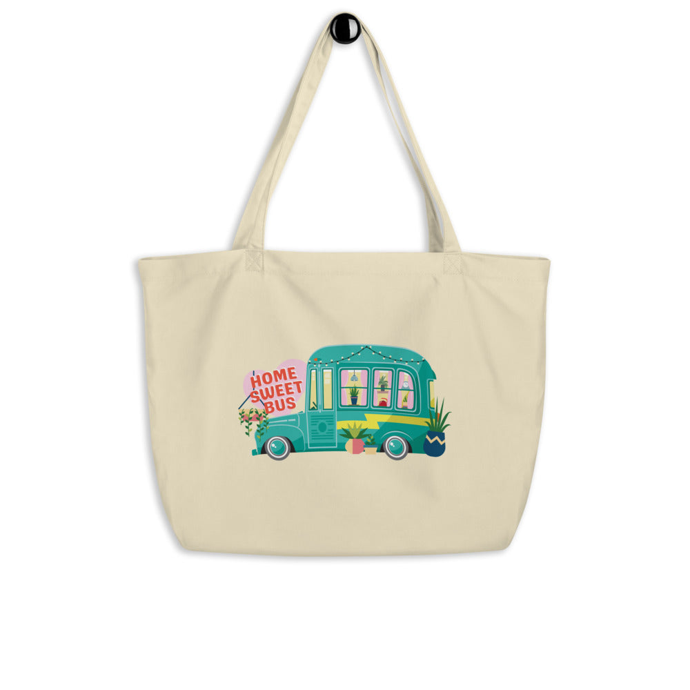 Home Sweet Bus Large Organic Tote