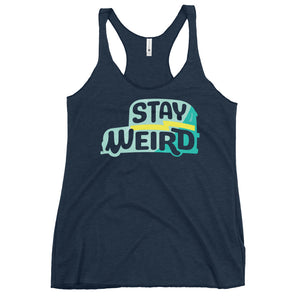 Load image into Gallery viewer, Stay Weird Racerback Tank