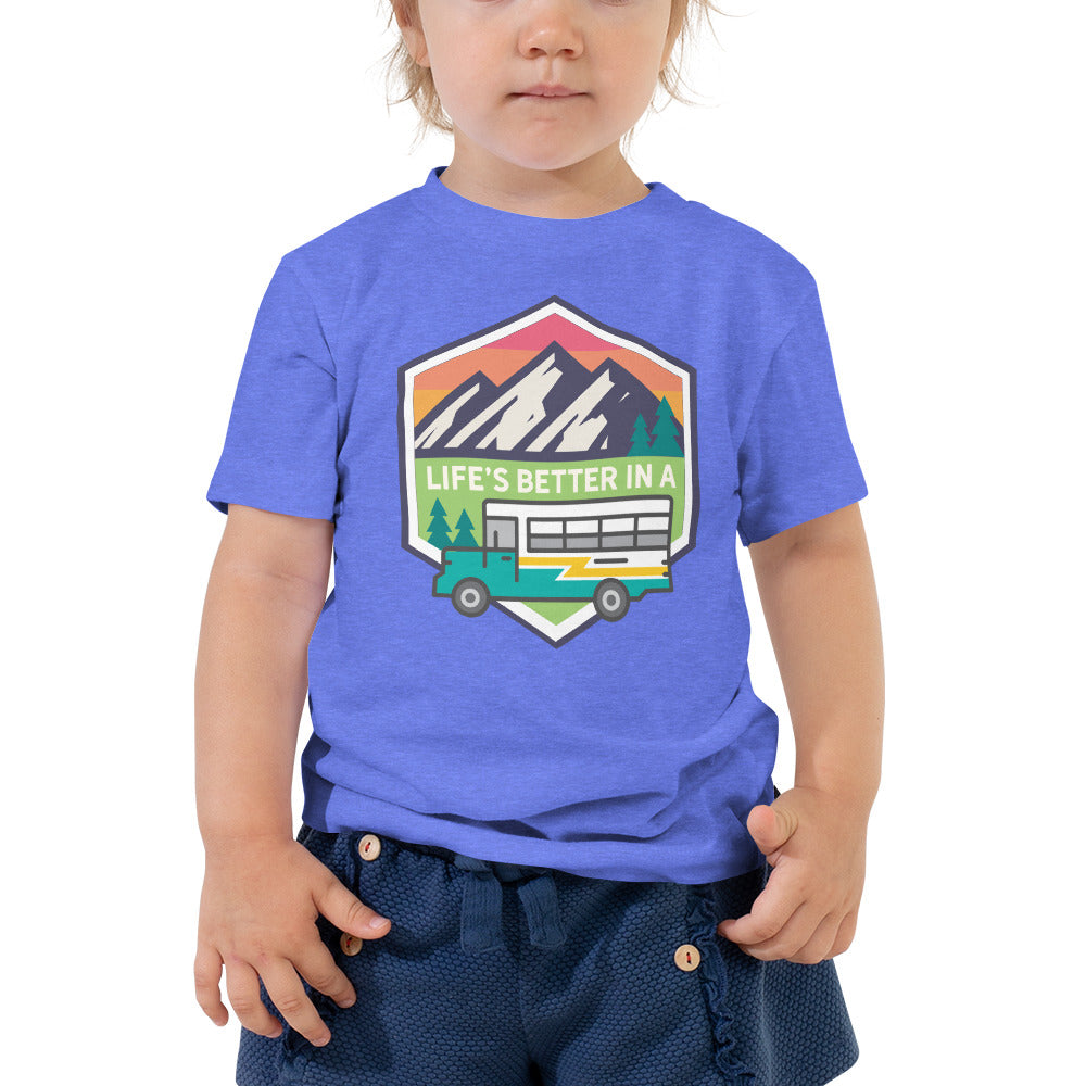 Life's Better in a Bus Toddler Tee