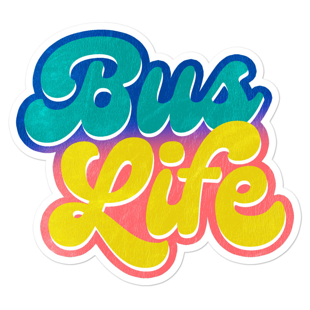 Bus Life Sticker