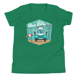 Bus Life at the Beach Kids Tee
