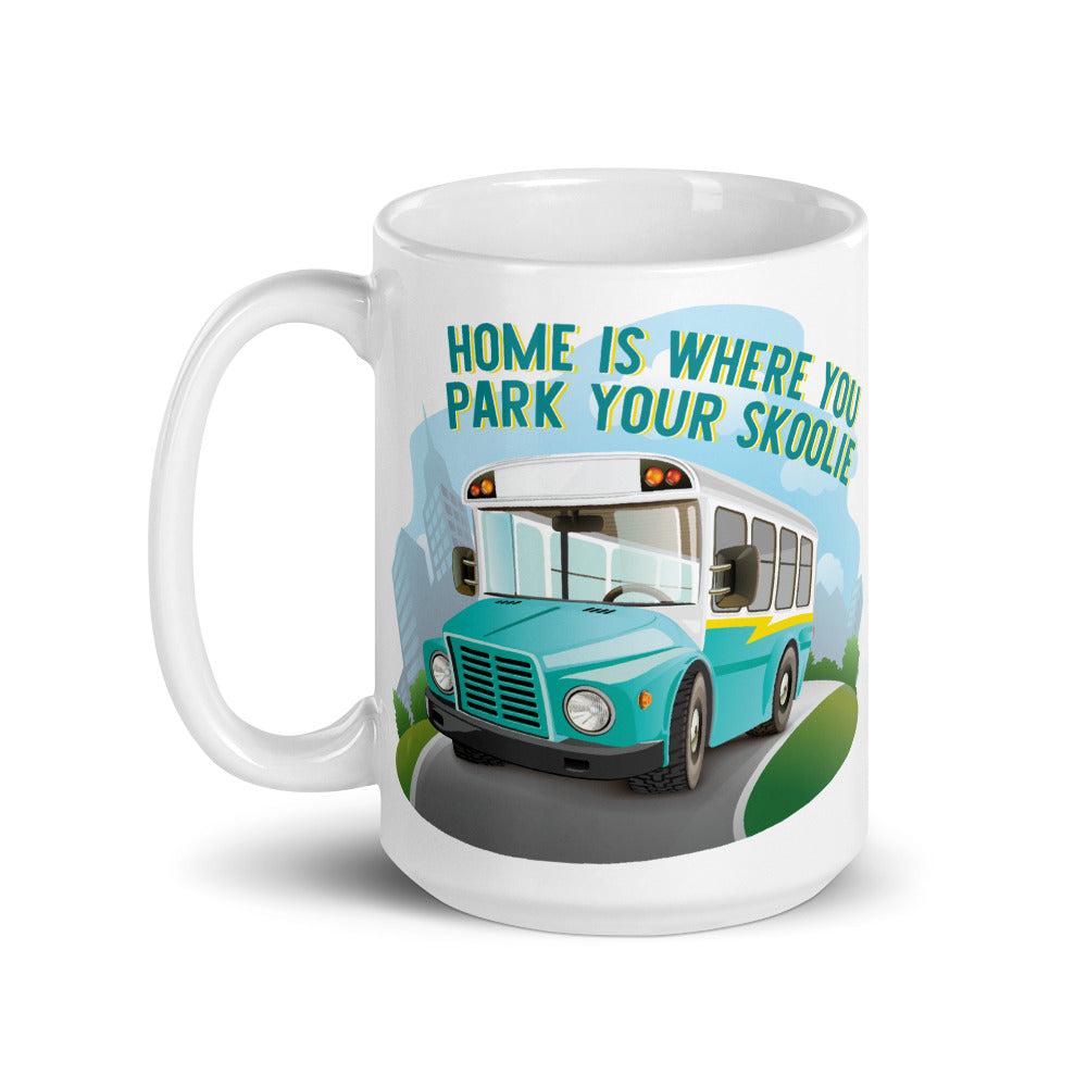 Home is Where You Park Your Skoolie Mug