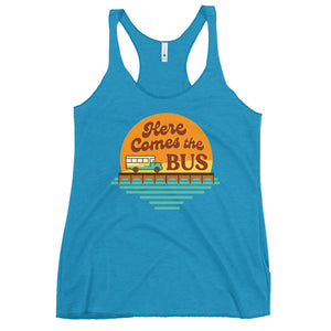 Here Comes the Bus Racerback Tank