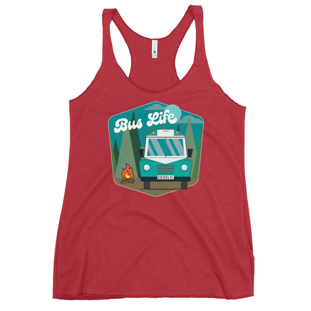 Bus Life in the Forest Racerback Tank