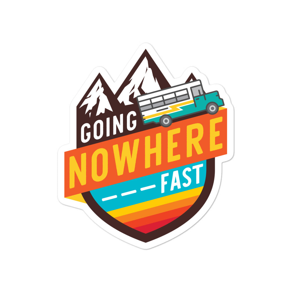 Load image into Gallery viewer, Going Nowhere Fast Skoolie Sticker