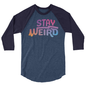Load image into Gallery viewer, Stay Weird Raglan Tee