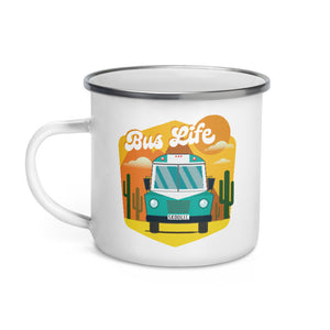 Load image into Gallery viewer, Bus Life in the Desert Enamel Mug