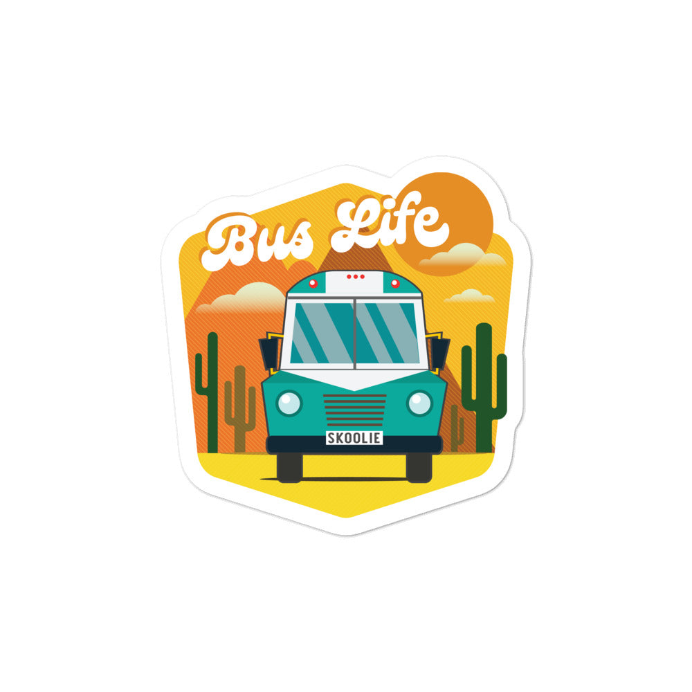Bus Life in the Desert Sticker