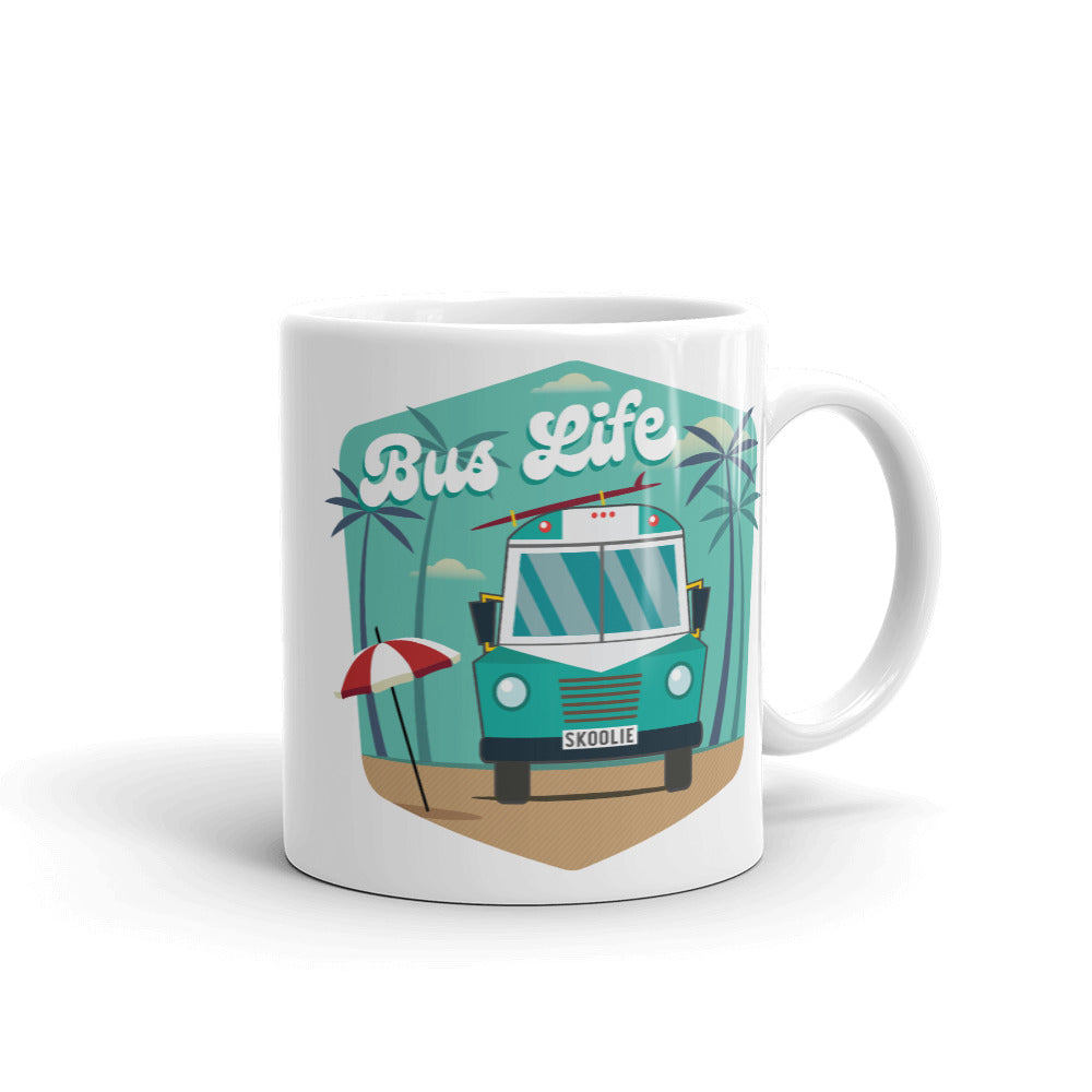 Bus Life at the Beach Mug