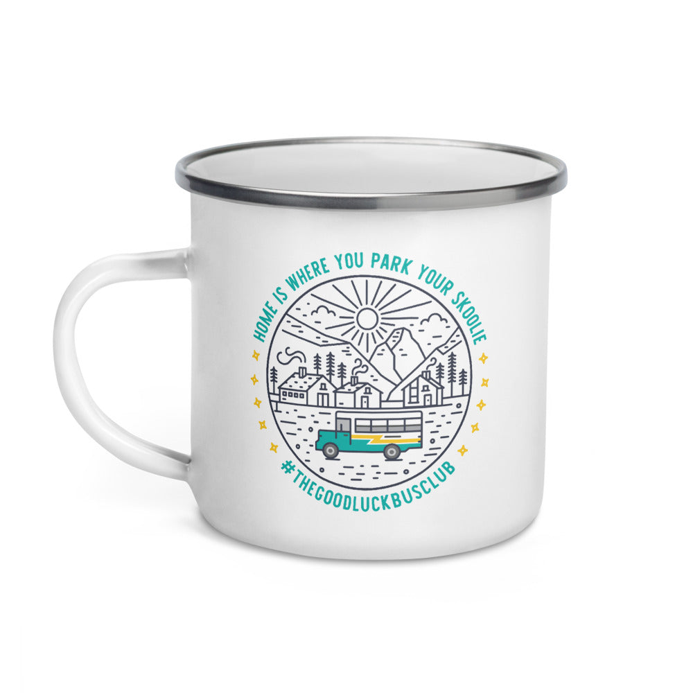 Home is Where You Park Your Skoolie // The Good Luck Bus Club Mug