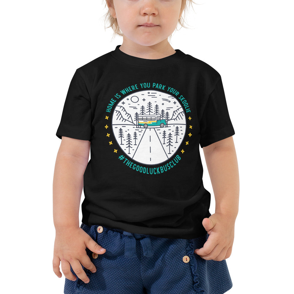 Home is Where You Park Your Skoolie // The Good Luck Bus Club Toddler Tee