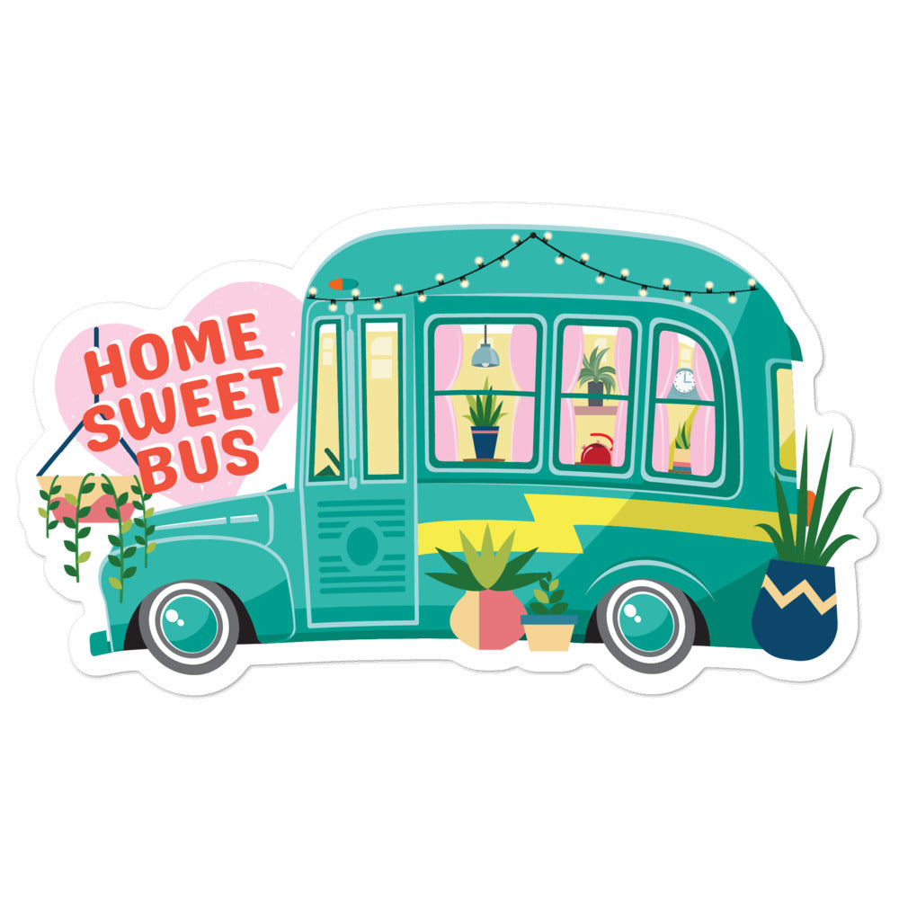 Home Sweet Bus Sticker