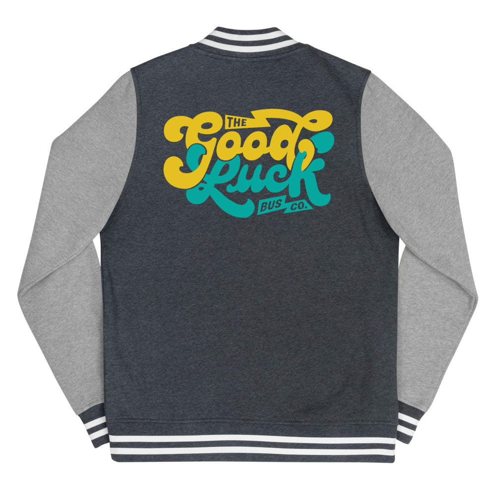 The Good Luck Bus Co. Women's Letterman Jacket