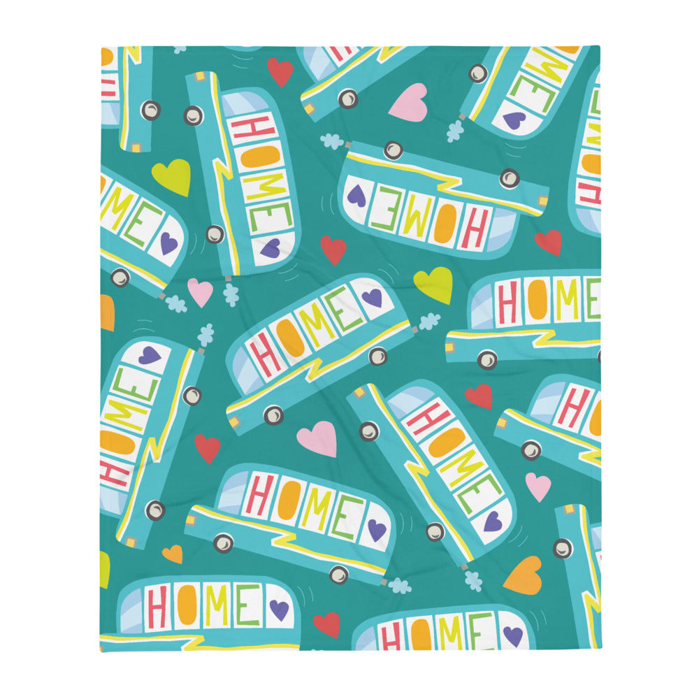 Skoolie HOME Throw Blanket