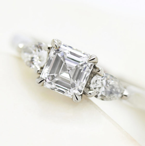 Asscher cut diamond video