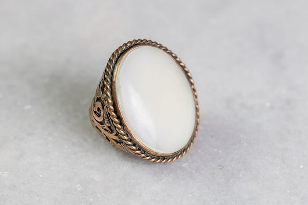 Mother of Pearl Statement Ring