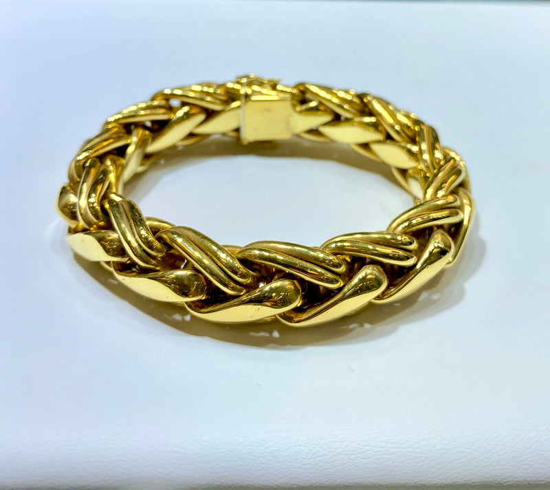 Signed Vintage Cartier Yellow Gold Bracelet