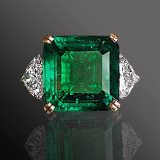 The Irving Berlin Emerald and Diamond Ring - SOLD