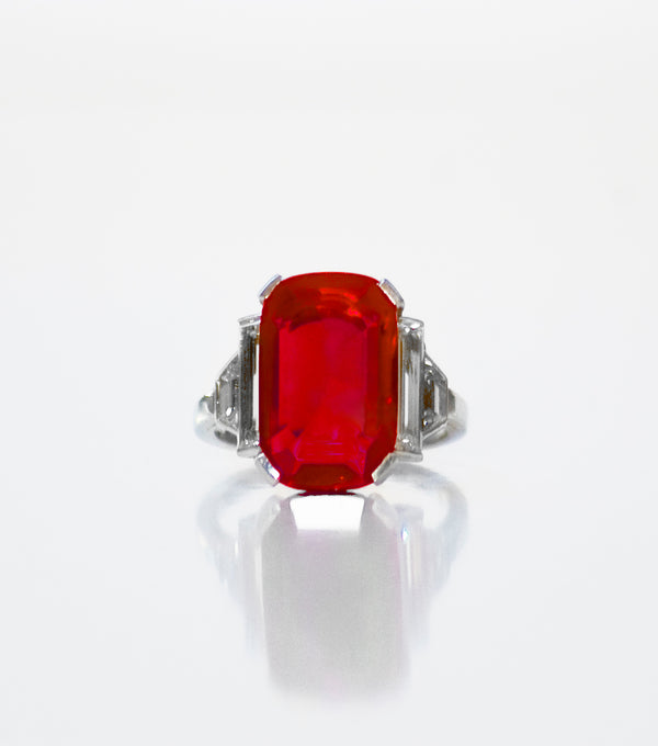 The Madame Arpel Ruby & Diamond Ring - SOLD