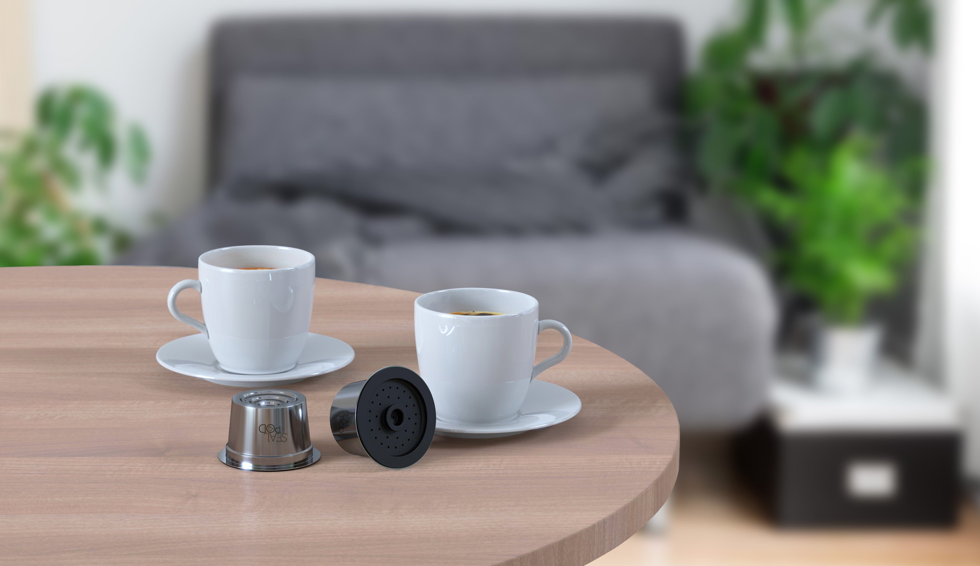 Stainless steel reusable coffee capsule for Caffitaly/K-Fee/Cafissimo