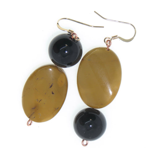 Image of Moxy - Mookaite & Agate Ear Peacemakers