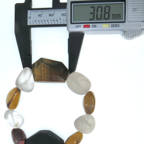 Tigers Eye & Quartz Wrist Peace Maker - Lg.