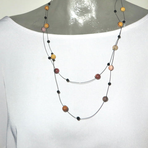Image of Mini Mookaite Neck Peace Maker - 52""