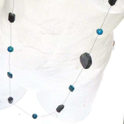Image of Bright Light Neck Peace Maker - Chryscolla & Labradorite