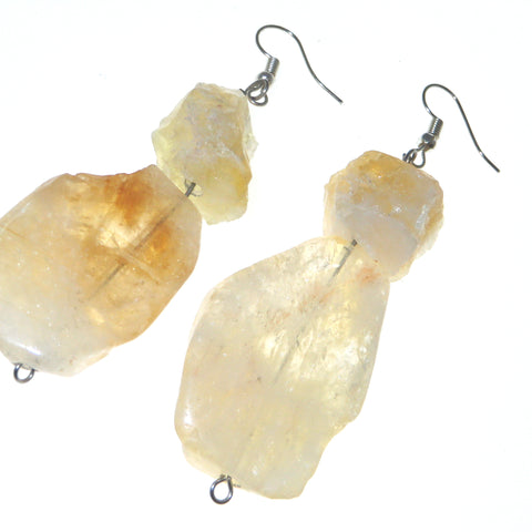 Citrine Goddess Ear Peacemakers - Citrine