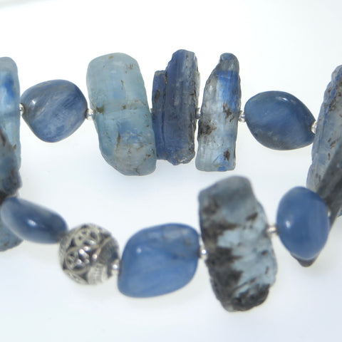 Kite - Kyanite Wrist Peacemaker with Sterling beads