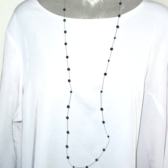 Black Simplicity Neck Peace Maker - Agate - 47