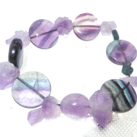 Focused Spirit Wrist Peacemaker - Amethyst Flourite