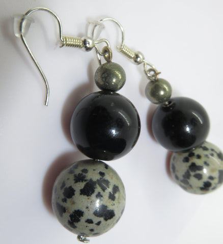 Beautiful handmade natural stone earrings