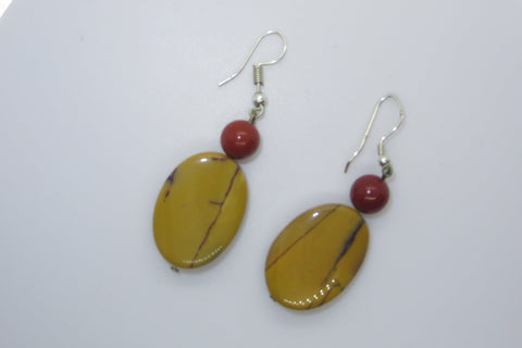 Here I Come! - Pure Mookaite Oval EarPeacemakers