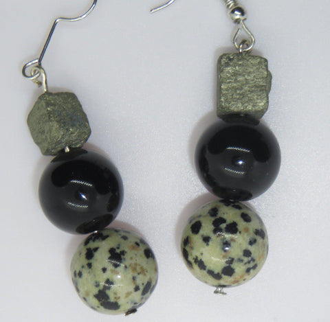 Safe Place EarPeacemaker -  Dalmation, Pyrite Tourmaline