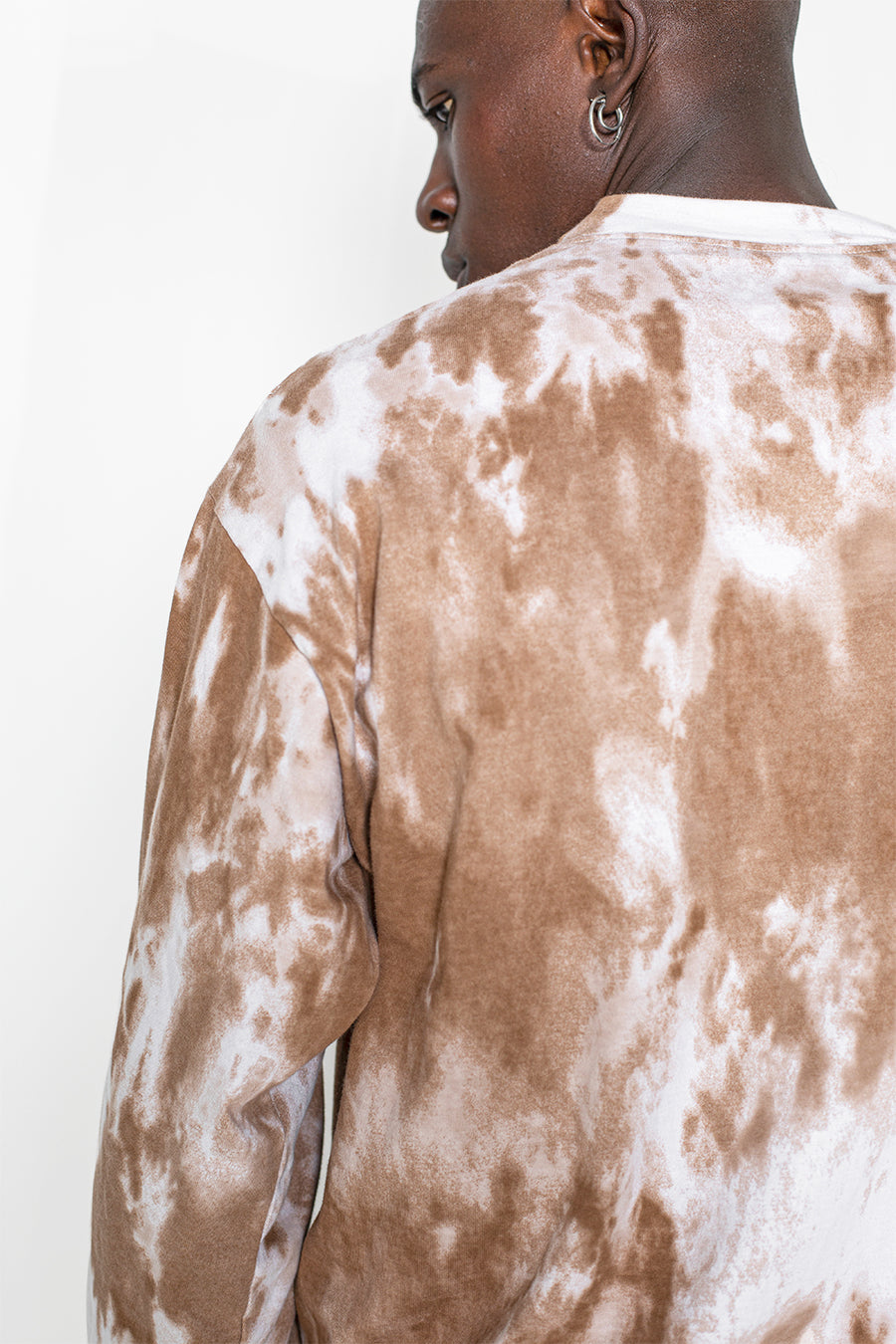 LE T-SHIRT TIE AND DYE BEIGE