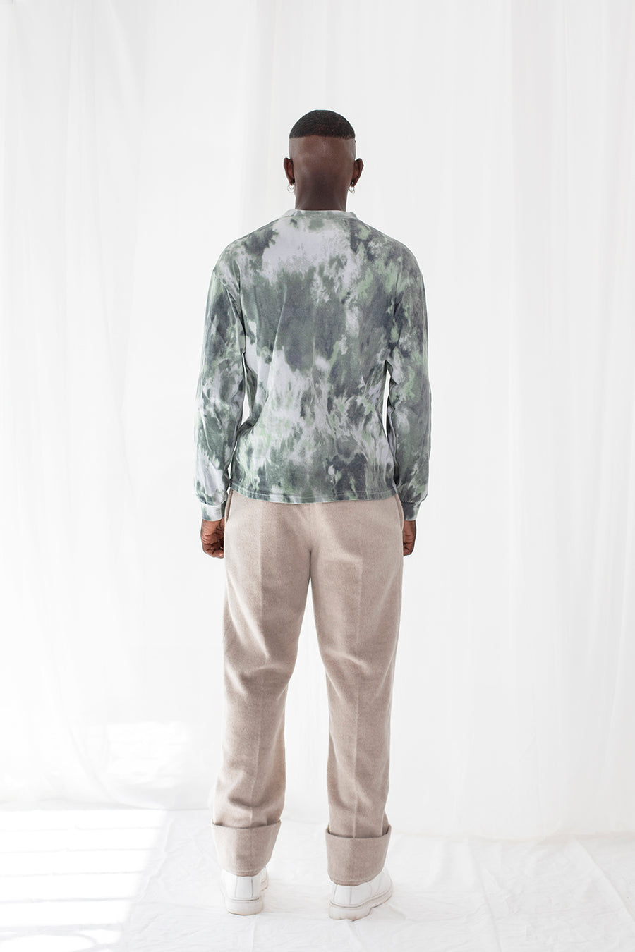 LE T-SHIRT TIE AND DYE VERT