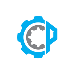 Carlyle Collision and Painting Logo Design with gears and the letters CCP creating the icon