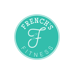Fitness Logo Design with skipping rope icon in the center in the shape of an F