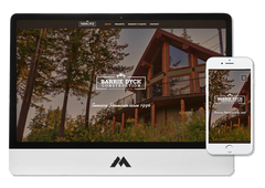 WIX website design for contracting and construction company in Harrison Hot Springs BC Barrie Dyck Contracting