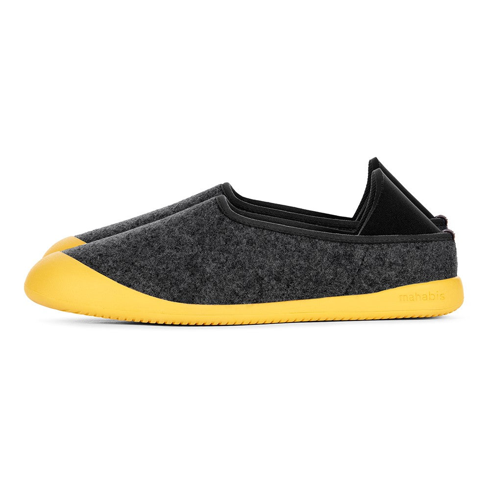 mahabis curve classic in larvik dark grey x yellow