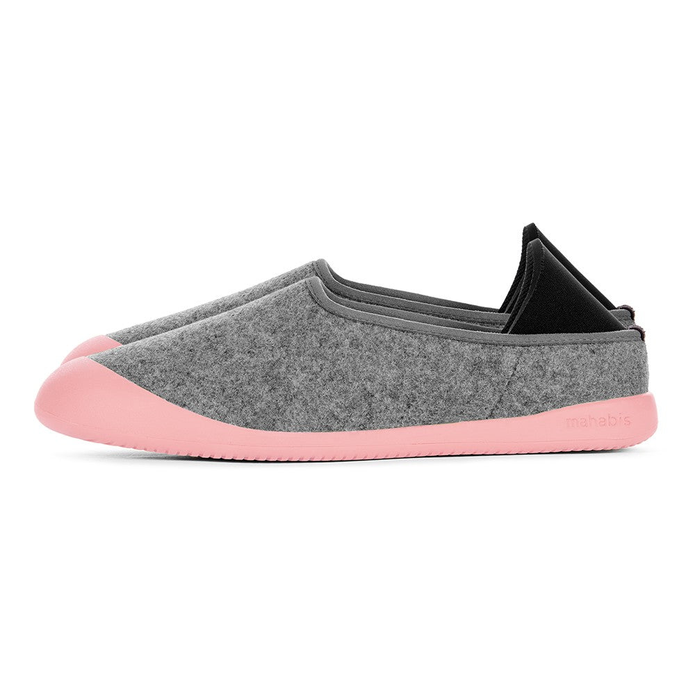 mahabis curve classic in larvik light grey x pink