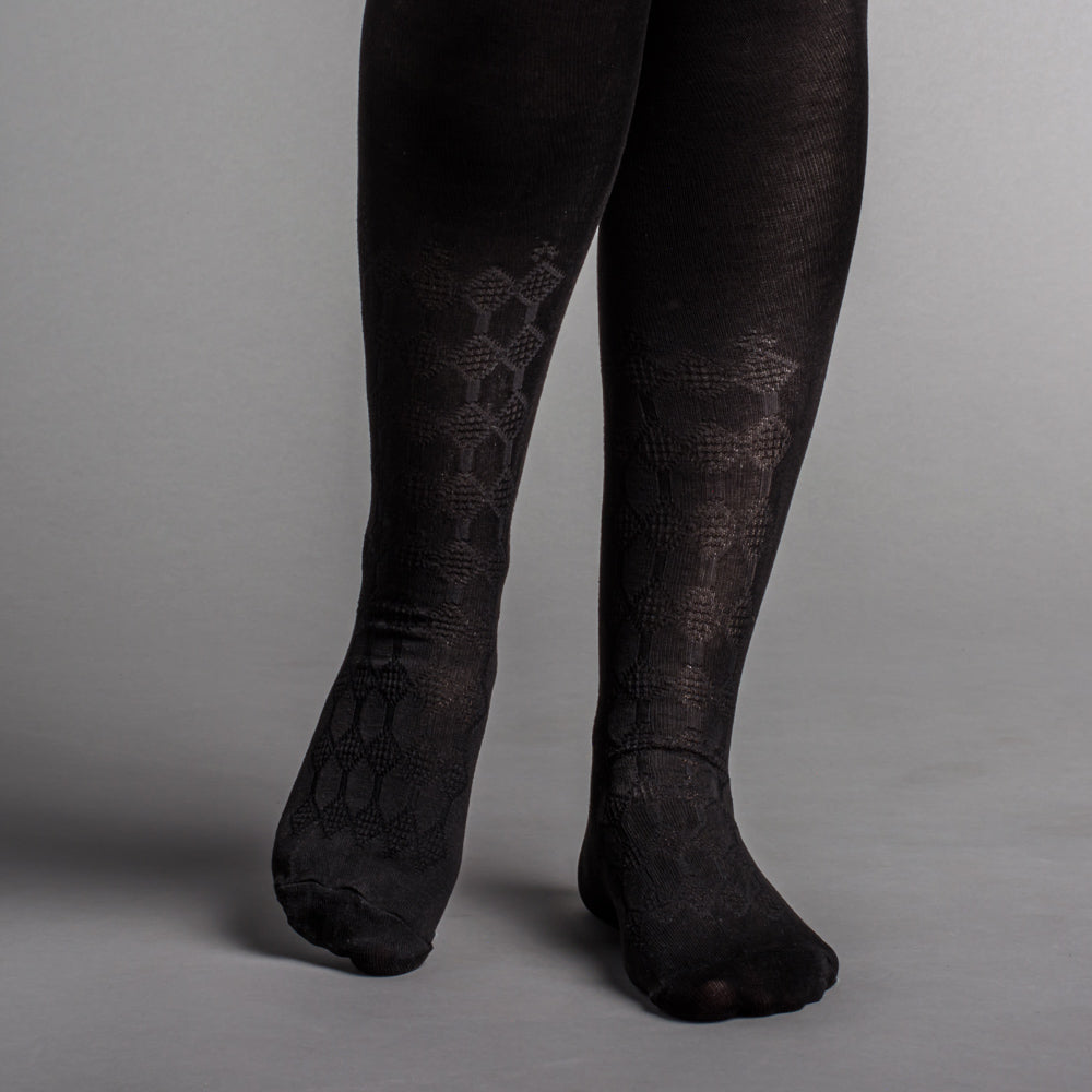 Silk Stockings (Black, Openwork)