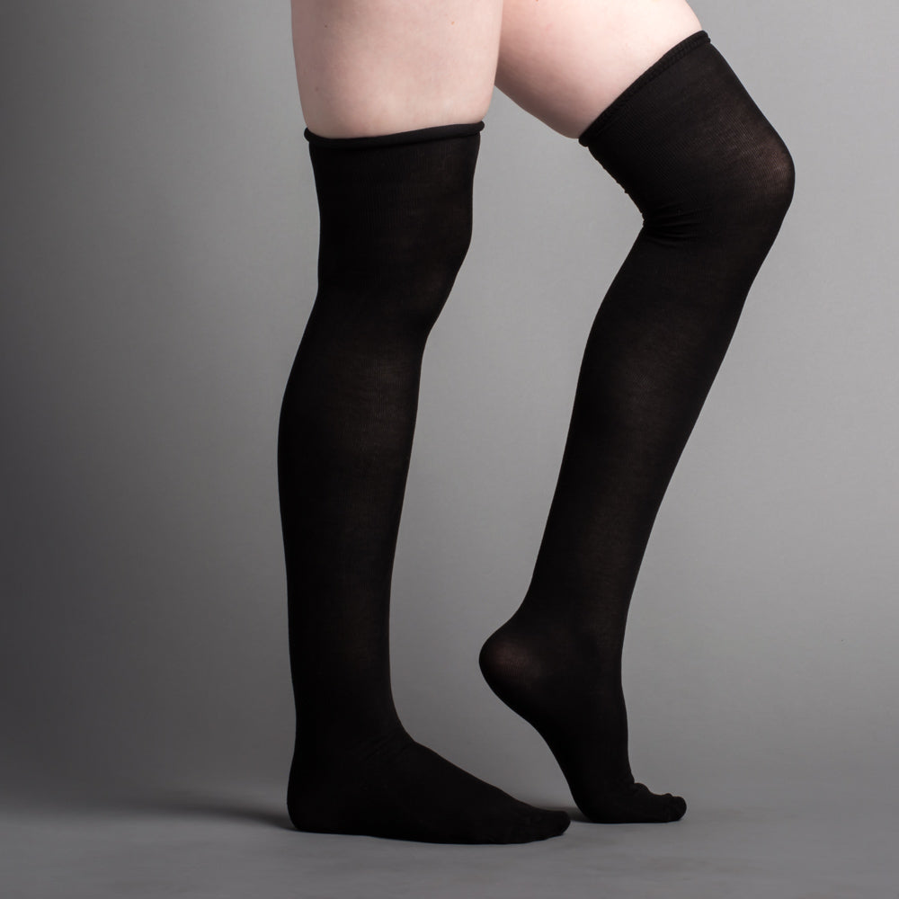 Silk Stockings (Black, Plain)