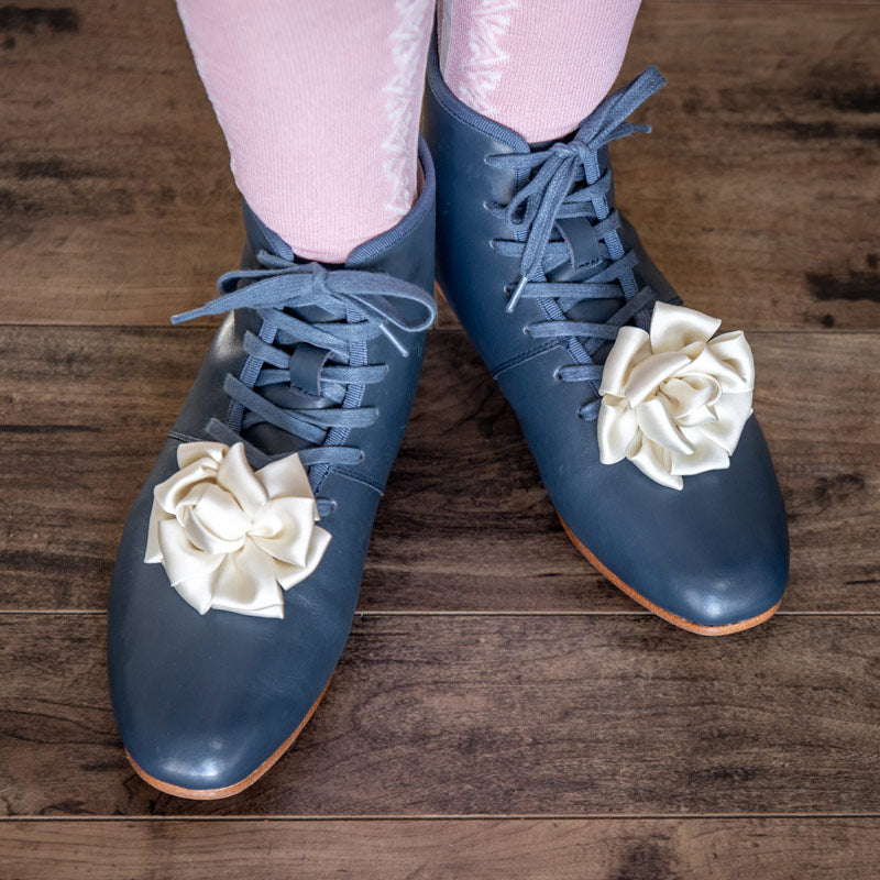 Emma Regency Booties (Blue) (1800 - 1820)