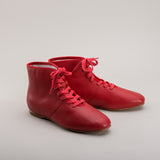 Imperfect Emma Regency Booties (Red) (1800 - 1820)