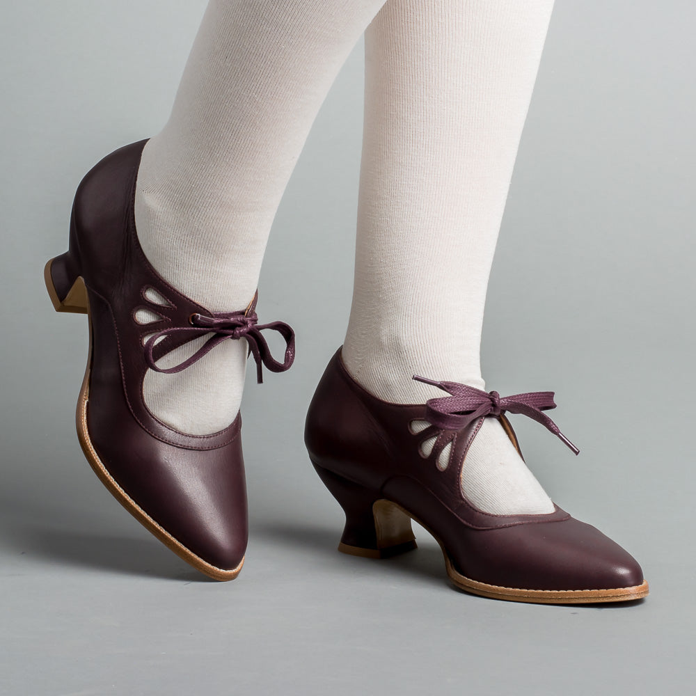 Gibson Edwardian Leather Shoes (Maroon)(1900-1925)