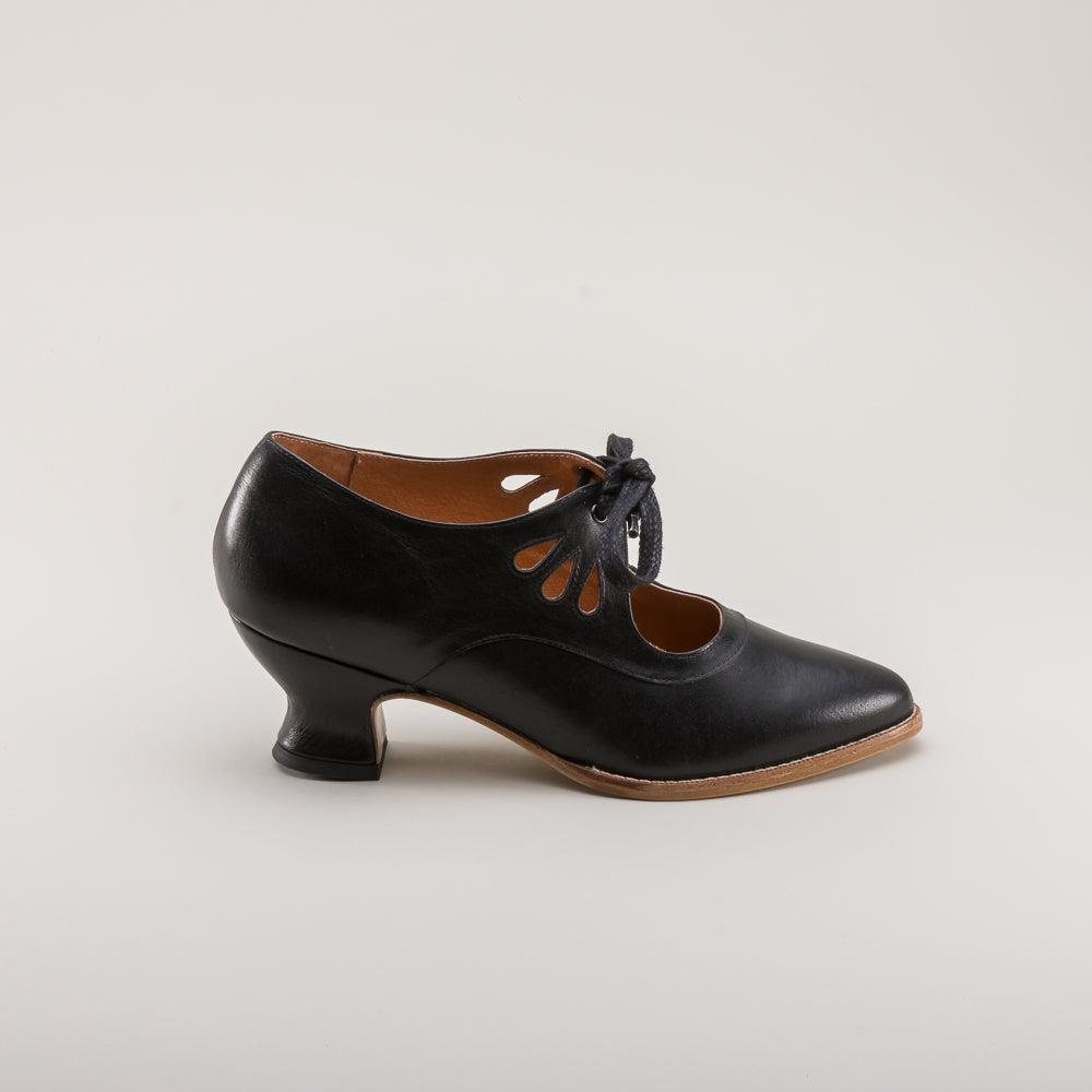 PRE-ORDER Gibson Edwardian Leather Shoes (Black)(1900-1925)